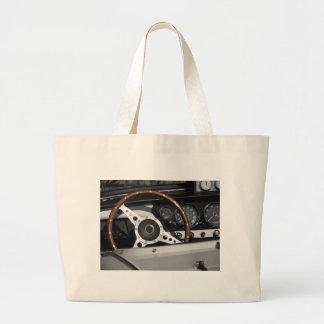 Bolsa Tote Grande Painel de um carro clássico britânico velho
