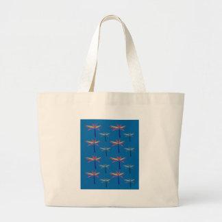 Bolsa Tote Grande Palmas exóticas do design no azul