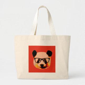 Bolsa Tote Grande Panda com vidros no vermelho
