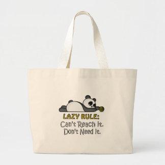 Bolsa Tote Grande Panda preguiçosa