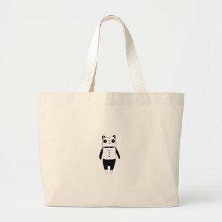 Bolsa Tote Grande Panda preto e branco pequena