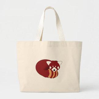 Bolsa Tote Grande Panda vermelha