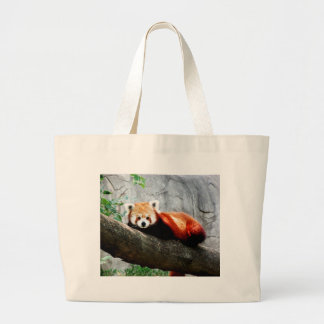 Bolsa Tote Grande panda vermelha animal engraçada bonito