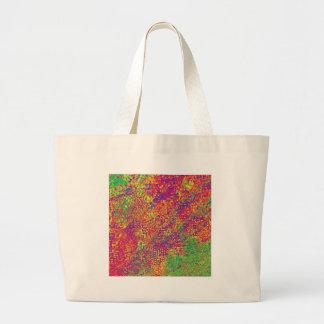Bolsa Tote Grande Para o amor das cores - Psychadelic