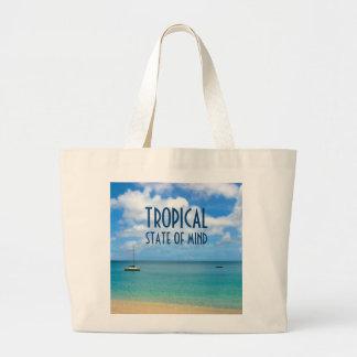 Bolsa Tote Grande Paraíso tropical da praia