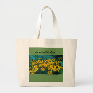 Bolsa Tote Grande pare e cheire a sacola das flores
