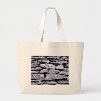 Bolsa Tote Grande parede empilhada da rocha