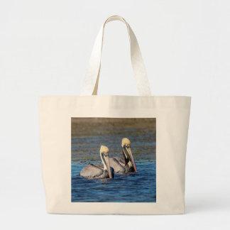 Bolsa Tote Grande Pares de pelicanos