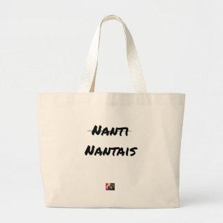 Bolsa Tote Grande PAS NANTI, NANTESES - Jogos de palavras - François