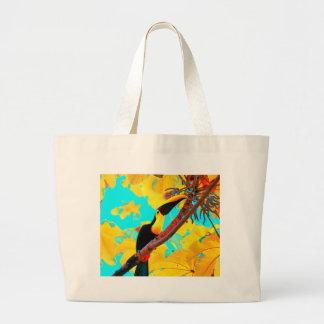 Bolsa Tote Grande Pássaro tropical de Toucan