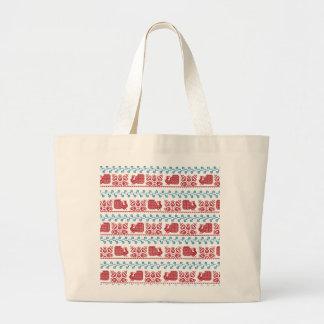Bolsa Tote Grande Pavão e flores