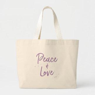 Bolsa Tote Grande Paz-e-Amor-Roxo