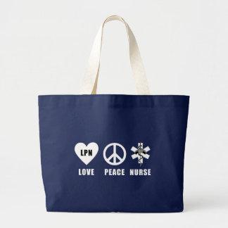Bolsa Tote Grande Paz LPN do amor