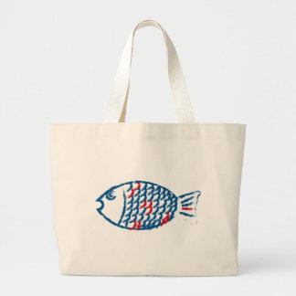 Bolsa Tote Grande Peixes