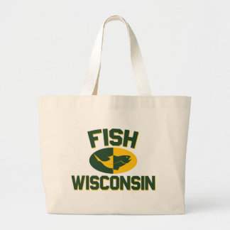 Bolsa Tote Grande Peixes Wisconsin