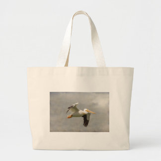 Bolsa Tote Grande Pelicano em vôo