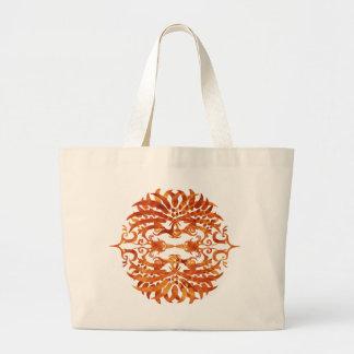 Bolsa Tote Grande Phoenix tribal flamejante