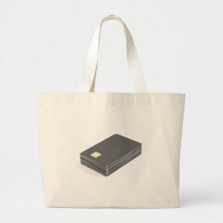 Bolsa Tote Grande Pilha com os cartões plásticos vazios com