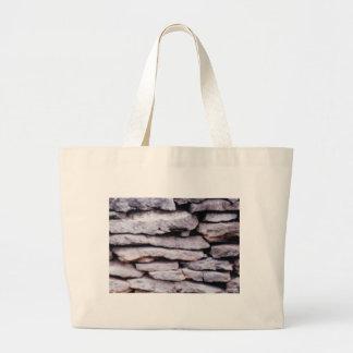 Bolsa Tote Grande pilha da rocha formada