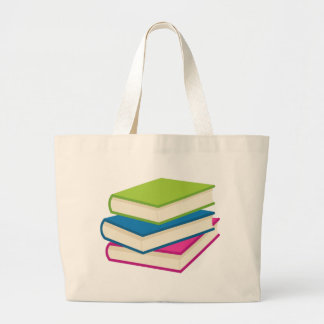 Bolsa Tote Grande Pilha de livros