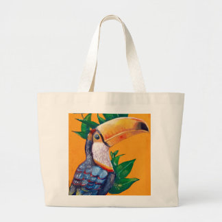 Bolsa Tote Grande Pintura bonita do pássaro de Toucan