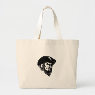Bolsa Tote Grande Pirata que veste o remendo Scratchboard do olho