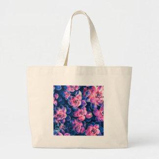 Bolsa Tote Grande Plantas coloridas do Succulent