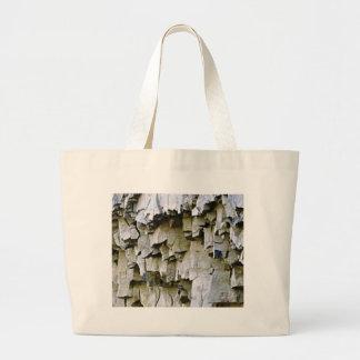 Bolsa Tote Grande plissados aleatórios da rocha