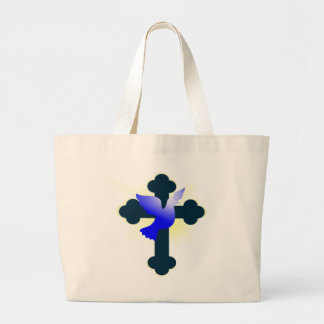 Bolsa Tote Grande Pomba e cruz