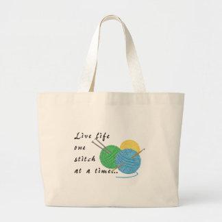 Bolsa Tote Grande Ponto vivo da vida uma em uma sacola do tempo