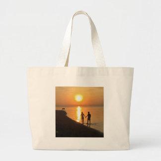 Bolsa Tote Grande Por do sol em Bali