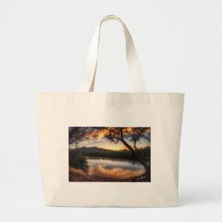 Bolsa Tote Grande Por do sol no rio