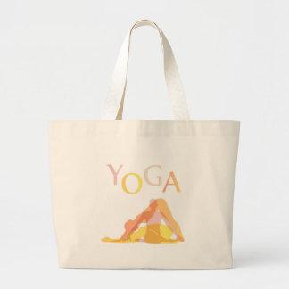 Bolsa Tote Grande Poses da ioga