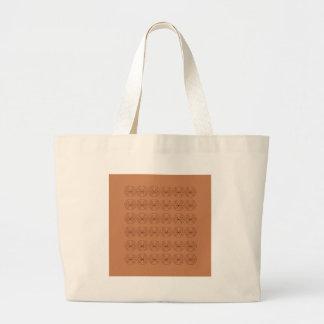 Bolsa Tote Grande Povos marrons dos elementos do design