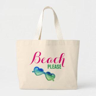 Bolsa Tote Grande Praia, por favor!
