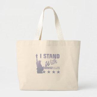 Bolsa Tote Grande Pro camisa da estátua da liberdade da imigração