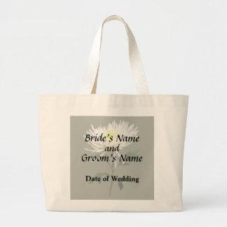 Bolsa Tote Grande Produtos brancos do casamento da mãe da aranha