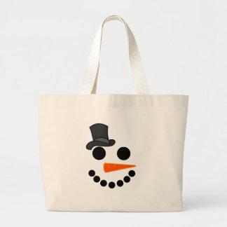 Bolsa Tote Grande Produtos do menino do boneco de neve