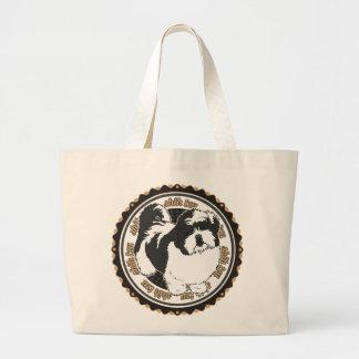 Bolsa Tote Grande Raças do cão de Shih Tzu