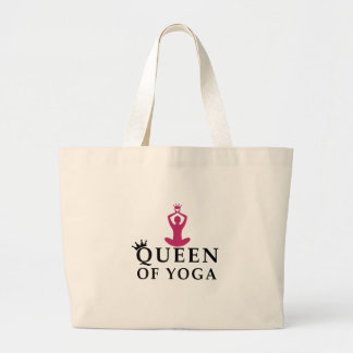Bolsa Tote Grande rainha da coroa da ioga