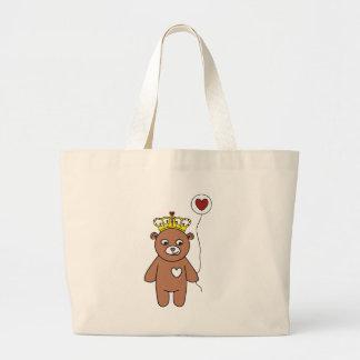 Bolsa Tote Grande rainha do urso de ursinho