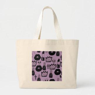 Bolsa Tote Grande rainha gotica purpura