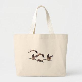 Bolsa Tote Grande Rebanho de gansos selvagens