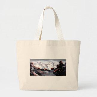 Bolsa Tote Grande Rebanho de iaques Himalaya da montanha