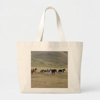 Bolsa Tote Grande Rebanho dos cavalos