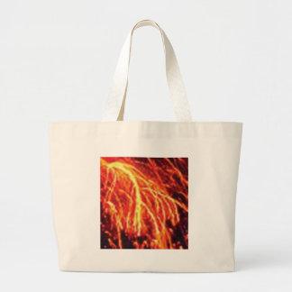 Bolsa Tote Grande relâmpago da lava