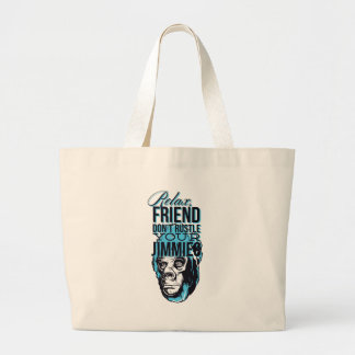 Bolsa Tote Grande relaxe amigos não rustle, para monkey
