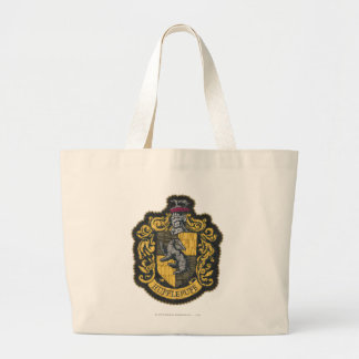 Bolsa Tote Grande Remendo da crista de Harry Potter   Hufflepuff