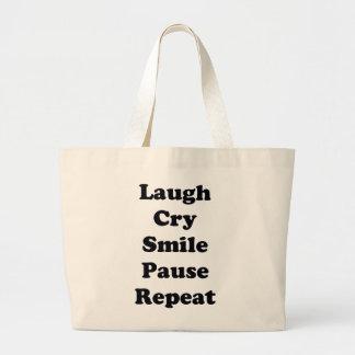 Bolsa Tote Grande Repetição do riso