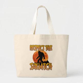 Bolsa Tote Grande Respeite o Squatch